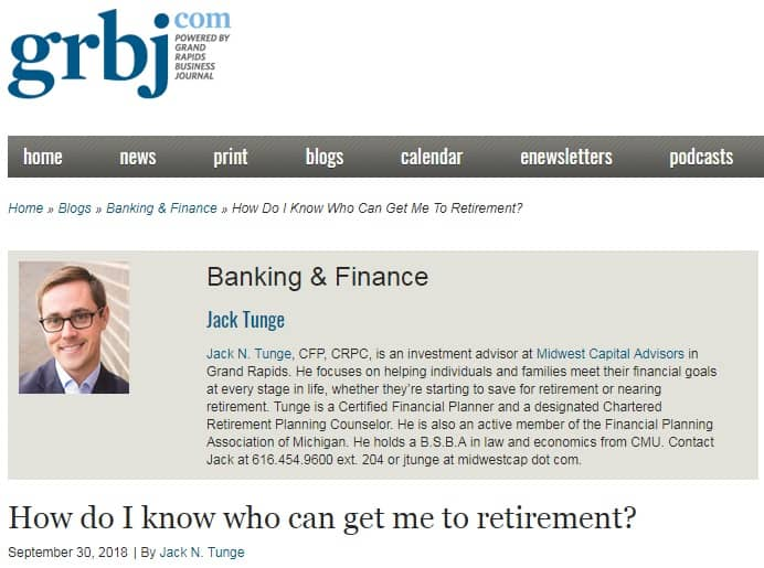 How do I know who can get me to retirement?